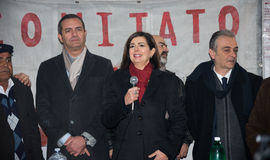 The president of the Chamber Boldrini visit Scampia - Italy Stock Image
