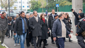The president of the Chamber Boldrini visit Scampia - Italy Stock Photos