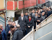 The president of the Chamber Boldrini visit Scampia - Italy Royalty Free Stock Image