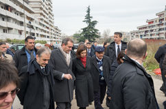 The president of the Chamber Boldrini visit Scampia - Italy Stock Photography