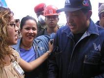 President Chavez royaltyfri bild