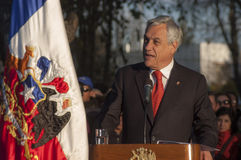 President of Chile. Chilean President Sebastian Pinera for the period 2010-2014 stock image