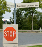 President Clinton Ave. Stock Photos