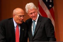 President Clinton and Congressman Dingell. ANN ARBOR, MI - OCTOBER 24: Former President Bill Clinton poses with Congressman John Dingell of Michigan after Stock Images