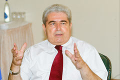 President of Cyprus Dimitris Christofias Royalty Free Stock Images