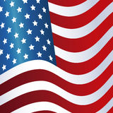 President day flag united states of america waving design Royalty Free Stock Photo