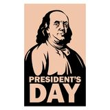 President day franklin vector illustration flat style. Front view vector illustration