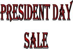 President Day Sale de illustratie van het tekstteken Stock Afbeelding