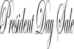President Day Sale de illustratie van het tekstteken Stock Foto