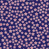 President Day Seamless Pattern. Abstract American President Day Seamless Pattern with Stars coloured as Flag . Vector Illustration for Celebration Holiday Design Stock Images
