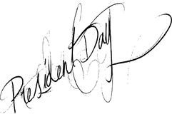 President Day text sign illustration Stock Photo