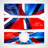 President Day in United States of America with colorful header Royalty Free Stock Photo