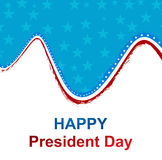 President Day in United States of America with colorful wave Stock Photography