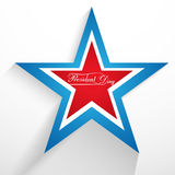 President Day in United States of America with star colorful Stock Photography