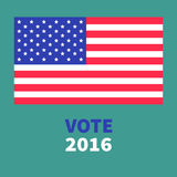 President election day 2016. Voting concept. Big american flag.  Stock Photos