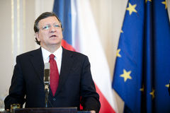 Jose Manuel Barroso. President of the European Commission Jose Manuel Barroso during press conference in Prague, April 3, 2013 royalty free stock photography