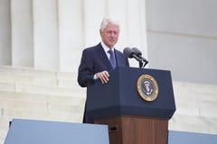 President för tidigare USA Bill Clinton Royaltyfria Foton