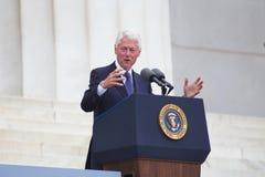 President för tidigare USA Bill Clinton Arkivfoton