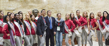 President gabellone and miss progress international lecce Stock Photos