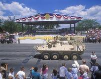 President George Bush at Desert Storm military parade, Washington, DC Royalty Free Stock Image