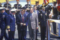 President George Bush at Desert Storm Victory Parade, Washington, D.C. Royalty Free Stock Photography
