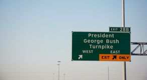 President George Bush turnpike Royalty Free Stock Photography