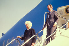 President George H.W. Bush and the First Lady. Royalty Free Stock Images