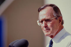 President George H.W. Bush. 41st President of United States. Royalty Free Stock Photos