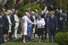 President George W. Bush and Queen Elizabeth II Royalty Free Stock Image