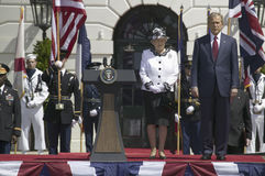President George W. Bush and Queen Elizabeth II Stock Photography