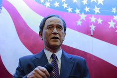 President george w. bush's wax figure Stock Photos