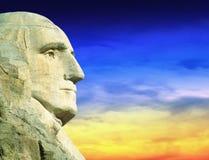 President George Washington på Mt Rushmore South Dakota Arkivbild