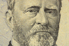 President grant. Face on the fifty dollar bill stock photos