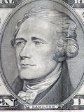 President Hamilton. Ten dollar bill close up Stock Photography