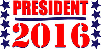 President 2016. Illustration or web icon for the American vote Stock Photos
