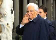 PRESIDENT OF THE ITALIAN REPUBLICA SERGIO MATTARELLA Stock Photography