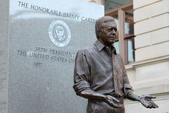 President Jimmy Carter Statue at the Georgia Statehouse. Stock Photos