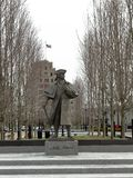 President John Adams standbeeld in Quincy Center royalty-vrije stock afbeelding