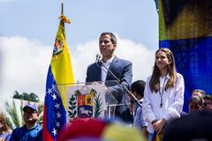 President Juan Guaidó thanks the international community stock image