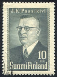 President Juho Paasikivi. FINLAND - CIRCA 1950: stamp printed by Finland, shows Portrait of President Juho Paasikivi, circa 1950 stock photos