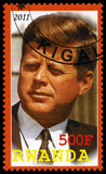 President Kennedy Postage Stamp from Rwanda Royalty Free Stock Photos