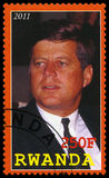 President Kennedy Postage Stamp van Rwanda Royalty-vrije Stock Fotografie