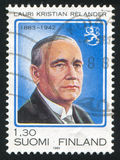 President Lauri Relander. FINLAND - CIRCA 1983: stamp printed by Finland, shows President Lauri Relander, circa 1983 Stock Photo