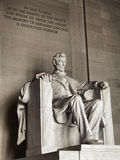 President Lincoln National Memorial Washington DC Stock Photo