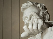President Lincoln statue with focus on fist Royalty Free Stock Photo