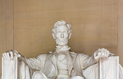 President Lincoln statue. Statue of President Lincoln in Lincoln Memorial in Washington DC royalty free stock photo