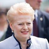 The President of Lithuania Dalia Grybauskaite Stock Photos