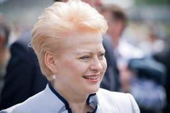 The President of Lithuania Dalia Grybauskaite Royalty Free Stock Photo
