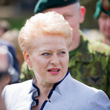 The President of Lithuania Dalia Grybauskaite Stock Images