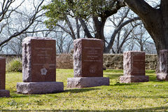 Graves of President Lyndon and Lady Bird Johnson. Private family cemetery at the LBJ Ranch / Lyndon B. Johnson National Historical Park where both the 36th Stock Photos